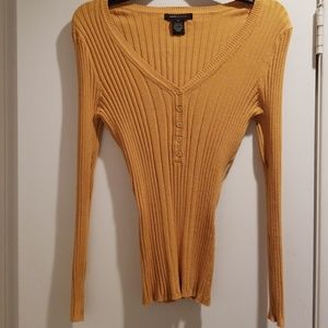 BCBG Gold Sweater